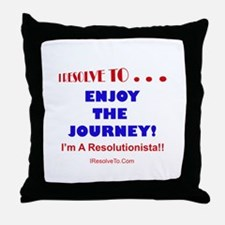 New year resolution Throw Pillow