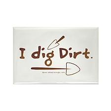 I Dig Dirt Rectangle Magnet (10 pack)