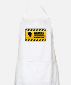 Warning Speech Therapist BBQ Apron
