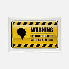 Warning Speech Therapist Rectangle Magnet