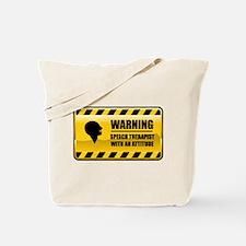 Warning Speech Therapist Tote Bag