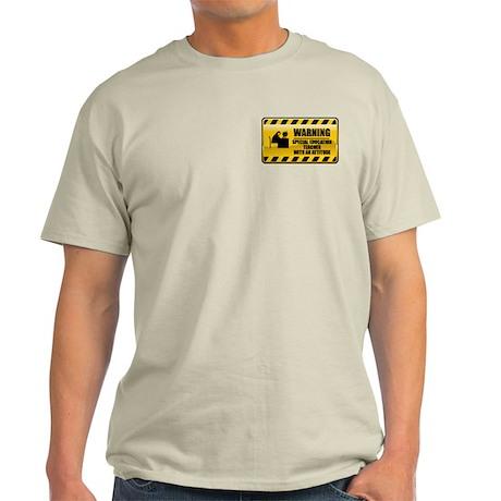 Warning Special Education Teacher Light T-Shirt