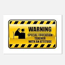 Warning Special Education Teacher Postcards (Packa