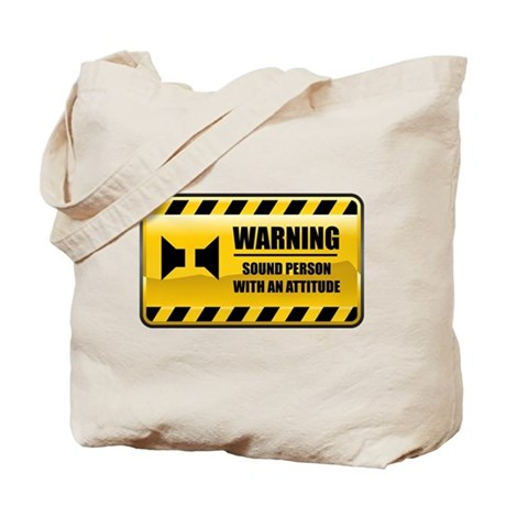 Warning Sound Person Tote Bag