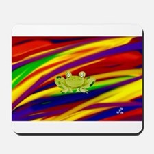 FROG Gay Rainbow Art Mousepad
