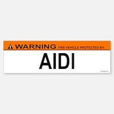 AIDI Bumper Bumper Bumper Sticker