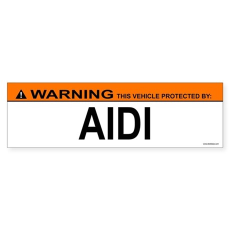 AIDI Bumper Sticker