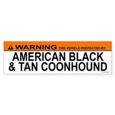 AMERICAN BLACK TAN COONHOUND Bumper Bumper Sticker