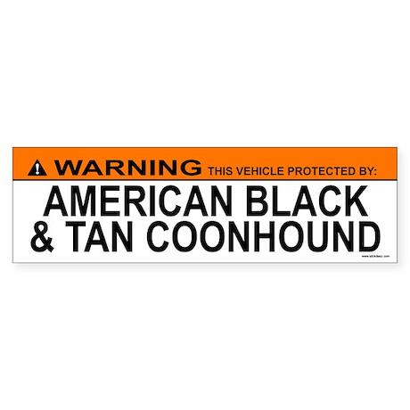 AMERICAN BLACK TAN COONHOUND Bumper Sticker