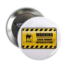 """Warning Social Worker 2.25"""" Button"""