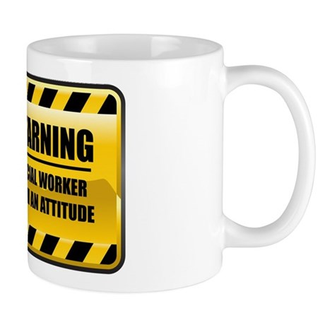 Warning Social Worker Mug