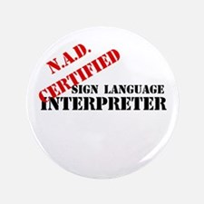 "NAD Certified Interpreter 3.5"" Button"