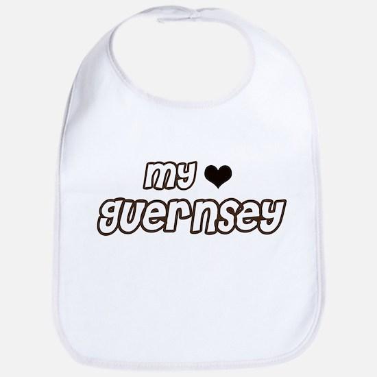 my heart Guernsey Bib