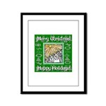 Caroling Angles Framed Panel Print