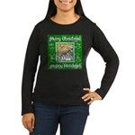 Caroling Angles Women's Long Sleeve Dark T-Shirt