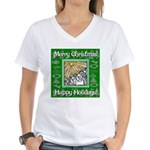 Caroling Angles Women's V-Neck T-Shirt