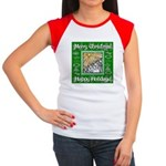 Caroling Angles Women's Cap Sleeve T-Shirt