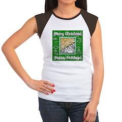 Caroling Angles Women's Cap Sleeve T-Shirt
