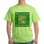Caroling Angles Green T-Shirt