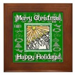 Caroling Angles Framed Tile