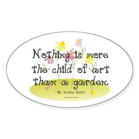 Gardening as Art Oval Sticker