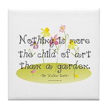 Gardening as Art Tile Coaster