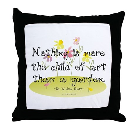 Gardening as Art Throw Pillow