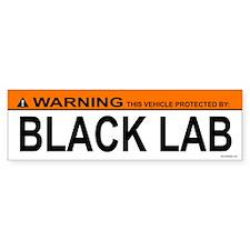 BLACK LAB Bumper Bumper Sticker