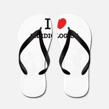 I Love CARDIOLOGIST Flip Flops