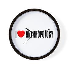 I Love Anthropology Wall Clock