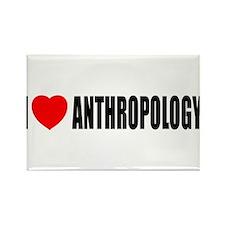 I Love Anthropology Rectangle Magnet (10 pack)