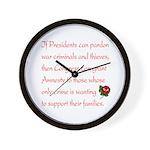 Amnesty Wall Clock