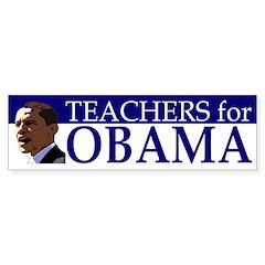 Teachers for Obama Bumper Bumper Sticker