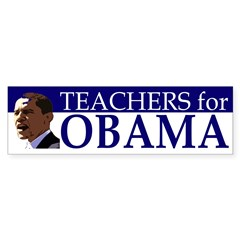 Teachers for Obama Bumper Bumper Sticker