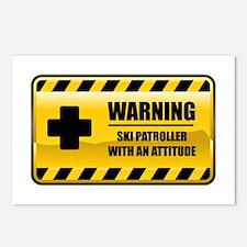 Warning Ski Patroller Postcards (Package of 8)