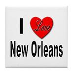 I Love New Orleans Tile Coaster