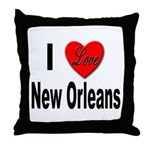 I Love New Orleans Throw Pillow
