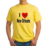 I Love New Orleans Yellow T-Shirt