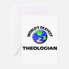 World's Okayest Theologian Greeting Cards