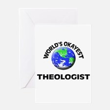 World's Okayest Theologist Greeting Cards