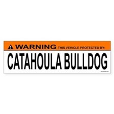 CATAHOULA BULLDOG Bumper Car Sticker