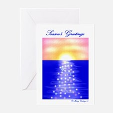 Sunset Christmas Tree Greeting Cards (Pk of 20)
