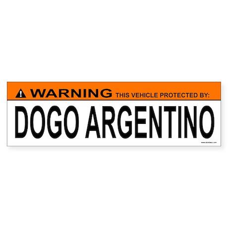 DOGO ARGENTINO Bumper Sticker