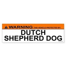 DUTCH SHEPHERD DOG Bumper Bumper Sticker