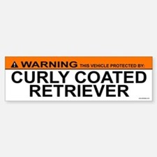 CURLY COATED RETRIEVER Bumper Bumper Bumper Sticker