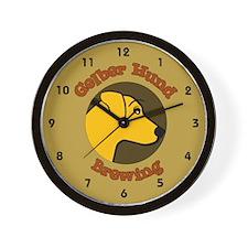 Gelber Hund Wall Clock