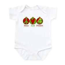 Peace, Love, Presents Infant Bodysuit