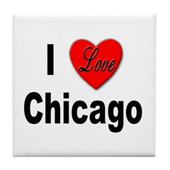 I Love Chicago Tile Coaster