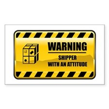 Warning Shipper Rectangle Decal