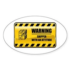 Warning Shipper Oval Decal